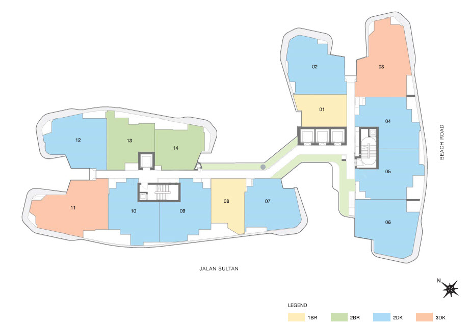 City gate condo site plan for Residential site plan